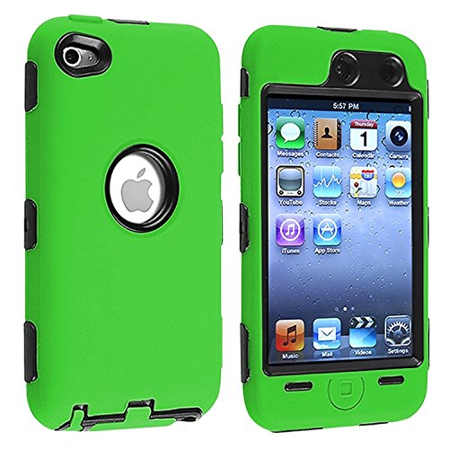 1pc-free-shipping-deluxe-green-3-part-hard-skin-case-cover-for-ipod-touch-4-4g-4th-gen