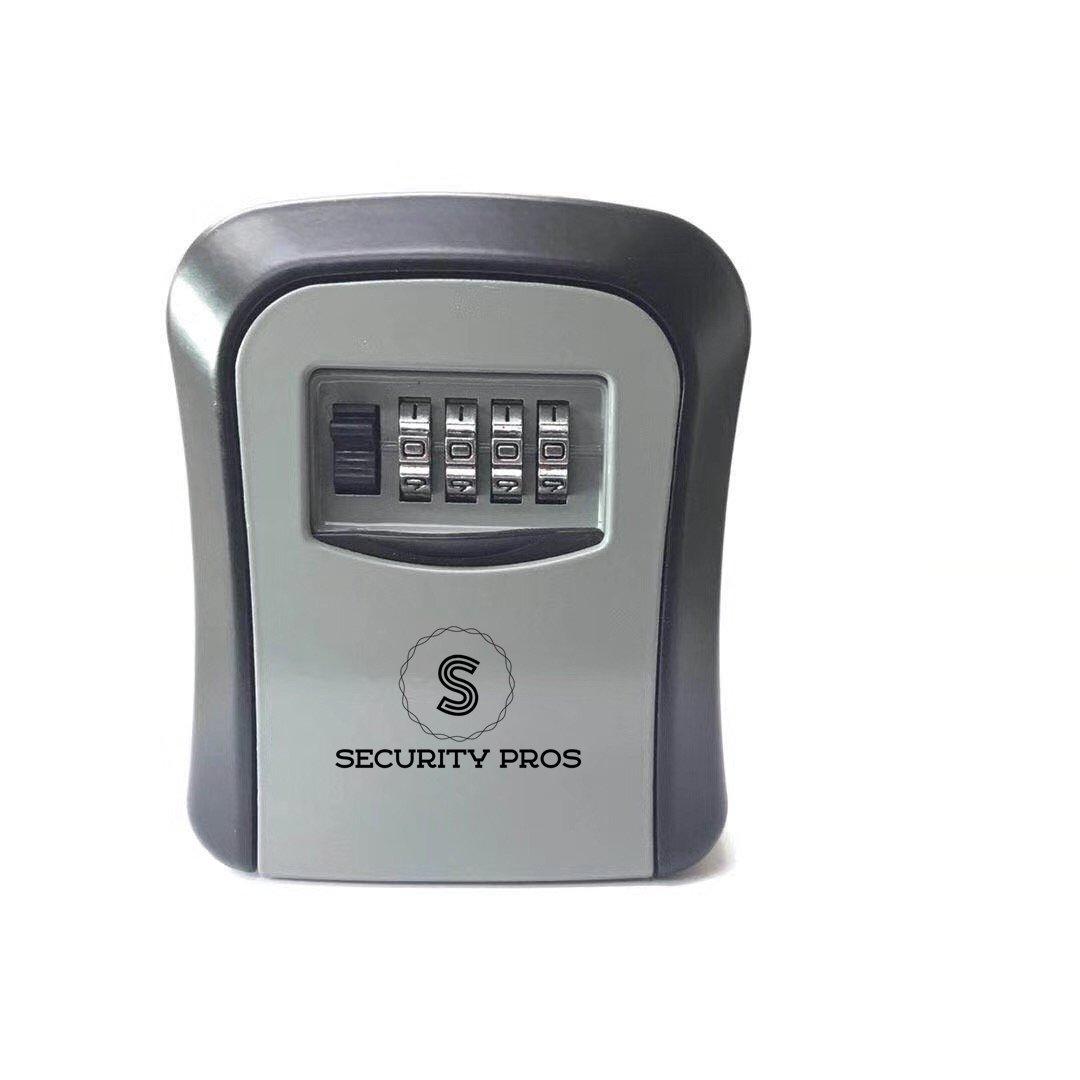 Security Pros Storage Key Safe Lock Box, 4-Digit Combination Multiple Keys, Wall Mounted Lock Box, Resettable Code