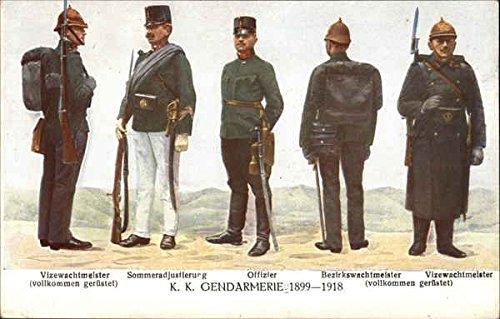 Austrian military 1899 to 1918 various ranks Austria Original Vintage Postcard from CardCow Vintage Postcards