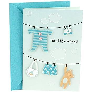 amazon com hallmark congratulations card for new baby boy