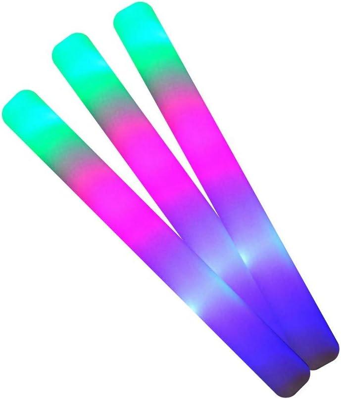 100 Palos de espuma luminosos Led multicolor ENTREGA 1-3 DÍAS ...