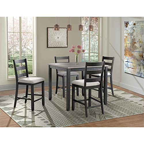 Picket House Furnishings Kona Gray 5PC Counter Height Dining Set