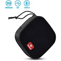 Bluetooth Speaker, Sansisco 8W Waterproof Loud Portable Mini Speaker with Suction Cup, CSR4.0 Wireless Splashproof Shower Speaker, 12-hour Play Time, HD Sound & Enhanced Bass, Handsfree Call