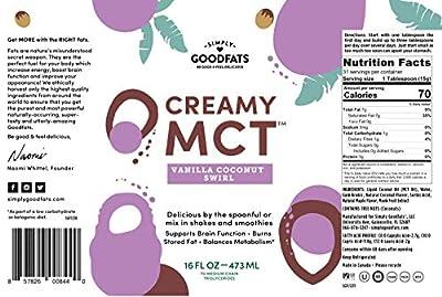 Simply Goodfats Creamy Mct Vanilla Coconut Swirl, 16 Fluid Ounce