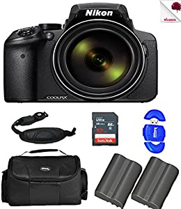 Nikon COOLPIX P900 Black Digital Camera 26499 (USA) with Full Accessory Battery Bundle Package Deal