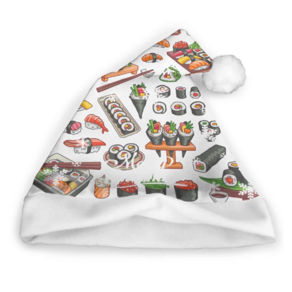 Cocina japonesa de mariscos con disfraz de sushi Sombrero de Santa ...