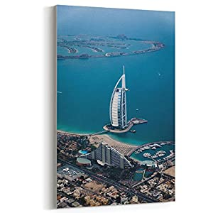 Westlake Art Canvas Print Wall Art - Dubai Sea on Canvas Stretched Gallery Wrap - Modern Picture Photography Artwork - Ready to Hang - 24x36in
