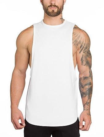 89b4fb7e9ddca ROBO Débardeur Homme Shirt Uni T-Shirt sans Manches Haut de Fitness Sport  Gym Jogging Respirant  Amazon.fr  Vêtements et accessoires