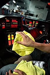 Chemical Guys MIC_103_12 Ultra Fine Microfiber Towels, Yellow (15 in. x 15 in.) (Pack of 12)