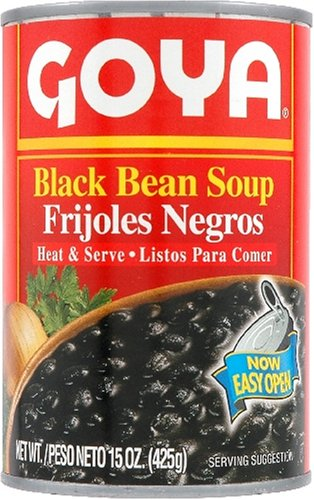 Goya Black Bean Soup, 15-Ounce Unit (Pack of 12)