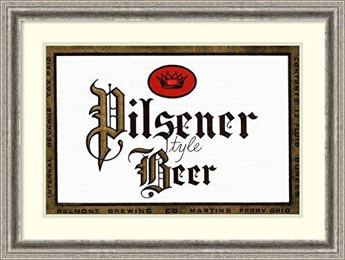 Framed Art Print 'Pilsener Style Beer' by Vintage Booze Labels