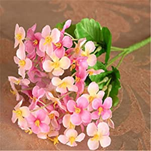 1Pc 18 Head Artificial Mini Primrose Flowers Simulation Bouquet Fake Flower Arrangements for Home Wedding Decoration (Pink) 1