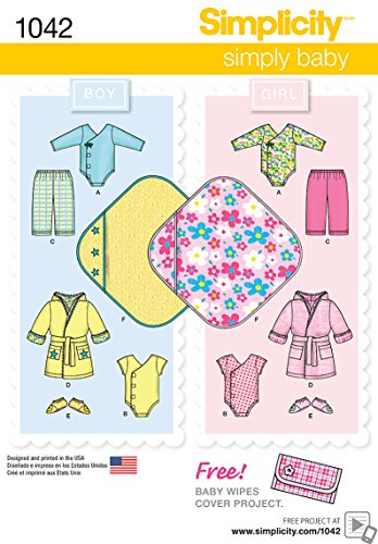 - Simplicity Boy and Girl Baby Layette Baby Clothing And Blanket Sewing Pattern, Infant Sizes XXS-L