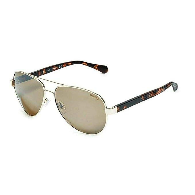 Guess GU6862-33G61 - Gafas de Sol para Hombre, Dorado, 61 ...