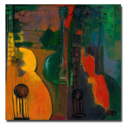 Guitars by Master's Art, 24x24-Inch Canvas Wall Art