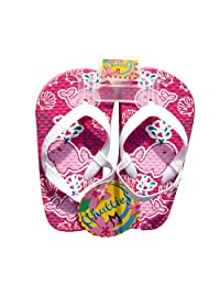 Toddler Girls Flip Flops With Back Straps Colorful Beach Sandals (5/6 - 11/12)