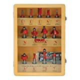 Freud 91-100 13 Piece Super Router Bit Set, 1/2-Inch Shank