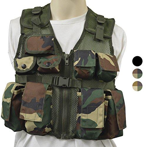 Nitehawk - Gilet Tactique/de Combat - Style Militaire/Police - Enfant 1