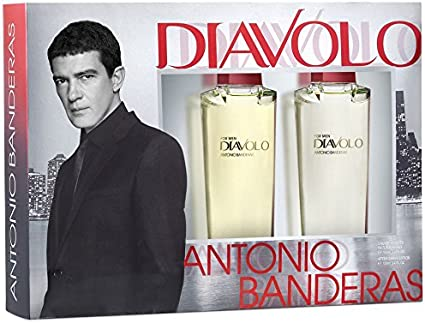 Lujoso-Estuche regalo para hombre-Antonio Banderas DIAVOLO-Eau de Toilette 100 ml y After Shave Lotion 100 ml: Amazon.es: Belleza