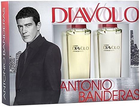 Lujoso-Estuche regalo para hombre-Antonio Banderas DIAVOLO-Eau de Toilette 100 ml y After Shave Lotion 100 ml: Amazon.es: Belleza