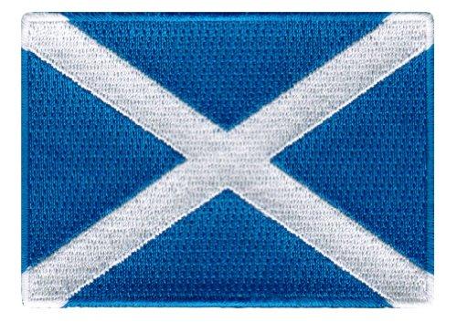 Scotland Flag Embroidered Patch Scottish Iron-On National Emblem