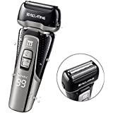 ELECTRFIRE Electric Shaver Beard Trimmer Foil Shaver Sideburn Trimmer for Men with Waterproof Wet/Dry USB Quick Rechargeable Cordless Electric Razor with Pop Up Trimmer&LCD Display&Travel Lock