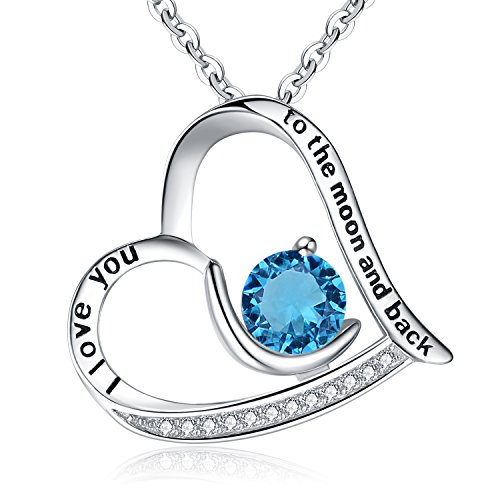 - BriLove 925 Sterling Silver Heart Necklace for Women,