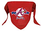 Atlanta Braves Pet Dog Baseball Jersey Bandana M/L