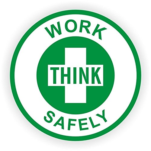 1 Set Eloquent Unique Think Work Safely Window Stickers Laptop Luggage Hoverboard Wall Graphics Safe Shop Helmet Label Decor Vinyl Art Sticker Decal Patches Size 2