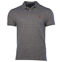 Polo Ralph Lauren Men's Custom Fit Mesh Pony Shirt-Vintage Pepper 7105-Medium