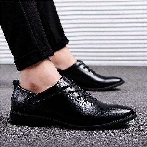 Zpfdy Juventud Black De Casual Cuero Zapatos Hombre Negocios Cordones Moda Bodas xpc6RrqxIw