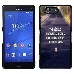 LECELL--Funda protectora / Cubierta / Piel For Sony Xperia Z3 Compact -- BIBLIA La Coronas Éxito Mundial --