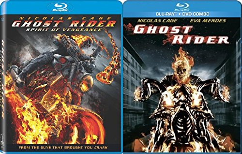 Marvel Movie Collection 2-Pack Ghost Rider Blu Ray / Ghost Rider Sequel Spirit of Vengeance Bonus Exclusive Features Documentary Double Feature