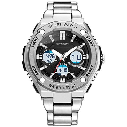 Mens Digital Sports Watch,Zulmaliu Waterproof Screen Large Face Military Watches and Heavy Duty Electronic Watch