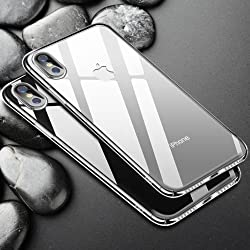IMUSGO Ultra Hybrid iPhone X Case with Air Cushion Technology and Hybrid Drop Protection for Apple iPhone X (Transparent)