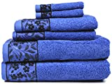 Kyпить HYGGE Premium 100% Turkish Cotton Towel Set with Floral Jacquard; 2 Bath Towels (27
