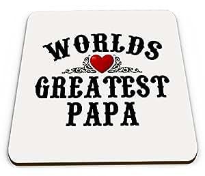 World 's Greatest Papa Taza Brillante posavasos
