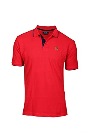 503a2ac9 Tempt Men's Comfort Soft Cotton Plain Solid Polo Half Sleeve T Shirt  (Color: Red