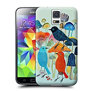 Unique Phone Case Mushrooms And Bird Hard Cover for samsung galaxy s5 cases-buythecase