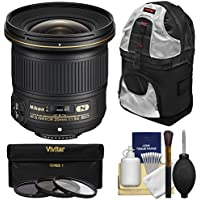 Nikon 20mm f/1.8G AF-S ED Nikkor Lens with 3 UV/CPL/ND8 Filters + Backpack + Kit for D3200, D3300, D5300, D5500, D7100, D7200, D750, D810 Cameras