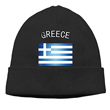 Greece Greek Flag Beanie Hat Hipster Toboggan Hat Winter Hats Knit Hat  Beanies for Men and c6b79112ac5