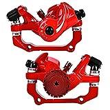 Bike Disc Brake Caliper, Aluminium Alloy Mechanical F160/R140 Front F180/R160 Rear 160mm Disc Brake Set