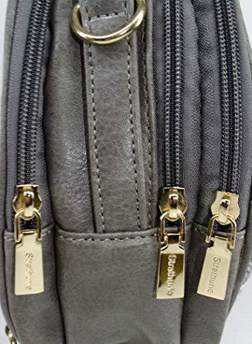 STRATHURIE Grå vit tartan ryggsäck för kvinnor