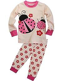 FANCYINN Little Girls Deer Pajamas Set Christmas Cotton Pjs Sleepwear 5t
