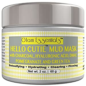 Limited Time Only 50% Off Hello Cutie Mud Mask with Free Boars Hair Applicator Brush - Aloe Base Removes Blackheads, Reduces Wrinkles, Relief from Acne, Pimple and Shrinks Pores Instantly - No Burning or Irritation Unlike Other Masks.