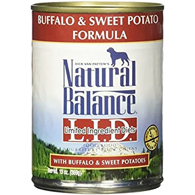 Natural Balance L.I.D. Limited Ingredient Diets Buffalo & Sweet Potato Formula Wet Dog Food