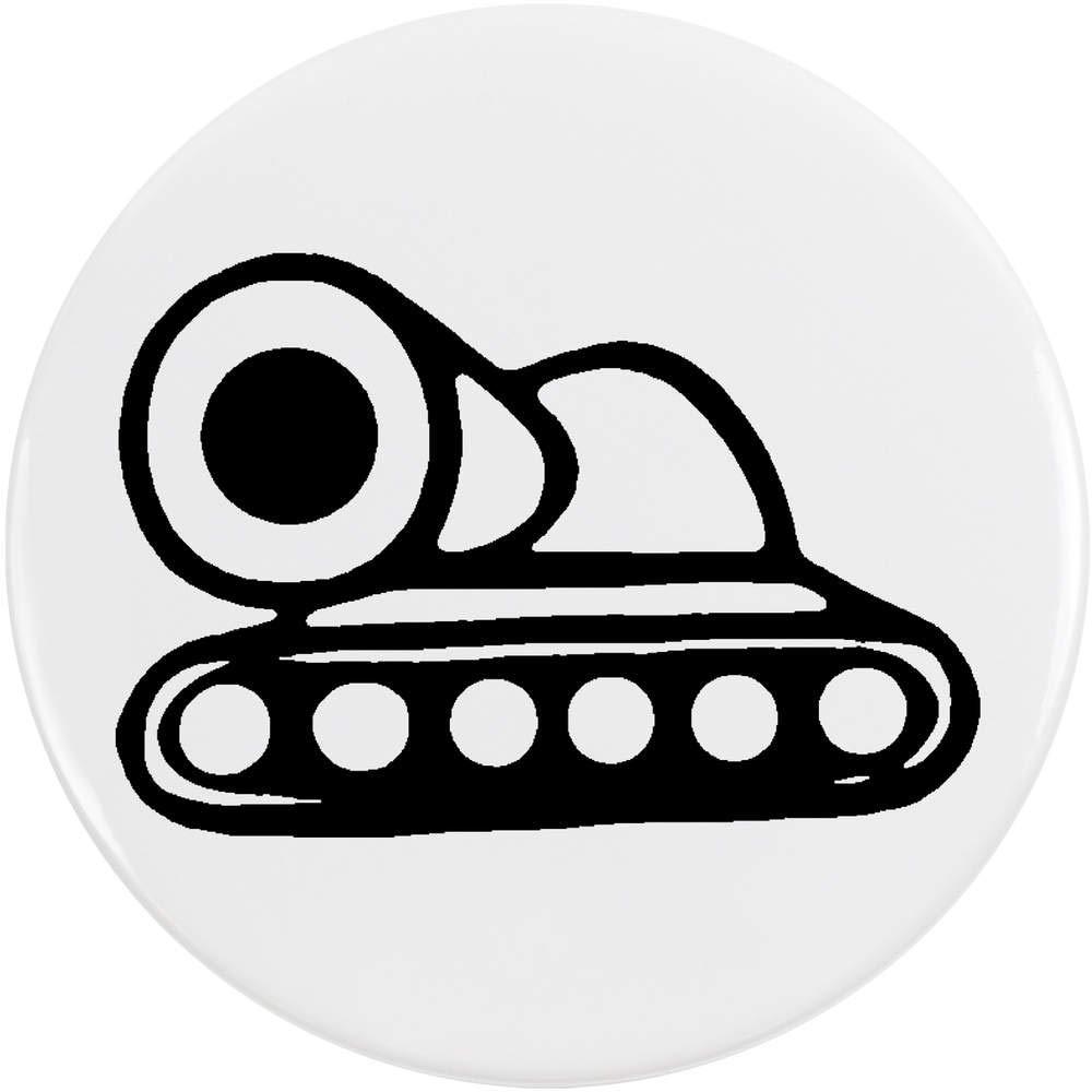 Azeeda 77mm 'Char de Combat' Bouton de Badge (BB00044809)