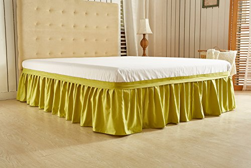 CoutureBridal Low Profile Bed Skirt 16 Inch Drop Twin 39