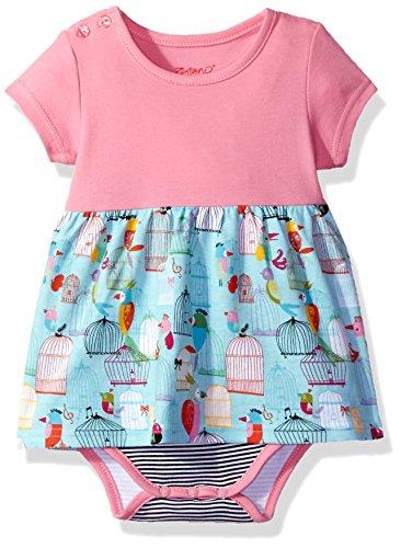 Zutano Baby Girls' Romper Dress, Paradise Bird, 24M (18-24 Months)