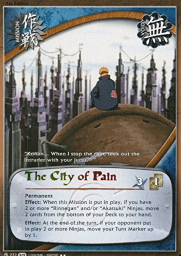 Naruto Card - The City of Pain 722 - Path of Pain - Rare - 1st Edition